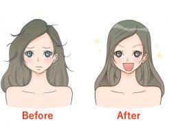 くせ毛の治し方 Bforeafter