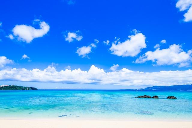 沖縄の10月は泳ぐことができます画像です