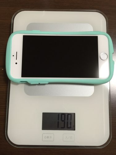 iPhone7,iface付で190g
