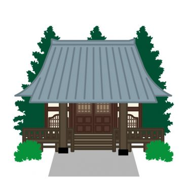 お寺イラスト